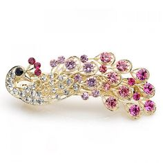 3.67$  Watch here - http://di5jx.justgood.pw/go.php?t=GT00160 - Exquisite and Attractive Rhinestone Embellished Peacock Shape Hairpin 3.67$