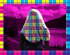 Grunge hair at Lake Louise.