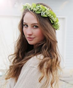 https://www.etsy.com/listing/262948439/fauna-crown?ref=listing-shop-header-2  #FlowerCrown #PrideandPrejudice #Themed #Wedding #engagement #delicate #simple #modest #accessories #etsy #free #shipping #green #lucky #irish