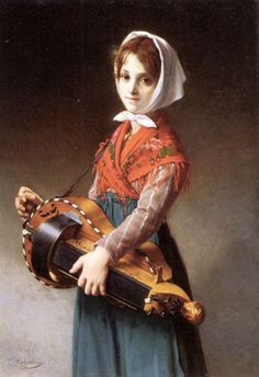 Baroque and Renaissance Instruments ~ The Hurdy Gurdy - origin unknown