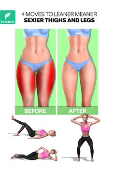 Give it a try to these workouts that will target your lower body muscles and help you get rid of cellulite with with only 4 moves to leaner meaner sexier thigh and legs. Gym Workout Tips, Toning Workouts, Butt Workout, Workout Challenge, Workout Videos, Fun Workouts, Workout Equipment, Chest Workout Women, Fitness Workout For Women