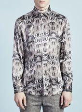 AW12 - Topman Design AW12 / TMD Brown Feather Print Shirt   http://tpmn.co/UnUDaX