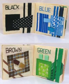 Colors Cloth Book. Children Quiet Fabric Book by TulipPetalsCraft, $35.00