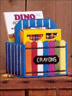 Plastic Canvas - Patterns for Children & Babies - Gift Patterns - Handy Organizers - Color Time