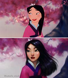 my favorite Disney princess. Mulan 🌸 (edit: yes I'm aware she's not technically a princ - isabelle_staub Disney E Dreamworks, Disney Movies, Disney Pixar, Create Cartoon Character, Character Design, Disney Fan Art, Cartoon Art, Cartoon Characters, Female Characters