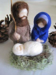 Waldorf Felted Nativity Creche Christmas Set by WillowwoodCottage, $65.00