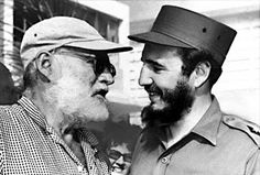 Fidel & Hemingway in 1960 in Cojimar, the coastal village that served as Hemingway's inspiration in his famous novella, Old Man and the Sea