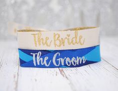 Bride And Groom Wedding Hen Stag Party Wristbands by WEDFEST, the perfect gift for Explore more unique gifts in our curated marketplace. Wedding Pins, Wedding Groom, Bride Groom, Bridal Party Games, Outdoor Wedding Inspiration, Wedding Ideas, Festival Wedding, Festival Style, Wedding