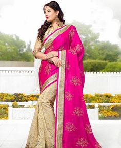 https://www.a1designerwear.com/ravishing-pink-and-cream-chiffon-saree