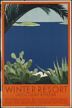 Winter resort. Jugoslav Riviera by Boston Public Library, via Flickr
