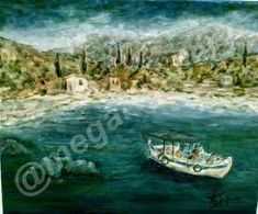 Artist: Pouliasi Aikaterini Title: sea landscape 50x60dim oil painting 450euro Joomla Templates, Ship, Landscape, Gallery, Artist, Scenery, Ships, Landscape Paintings, Corner Landscaping