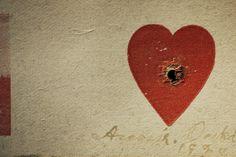 Alvo de Annie Oakley coração, coleção particular, Los Angeles, Califórnia, 2010