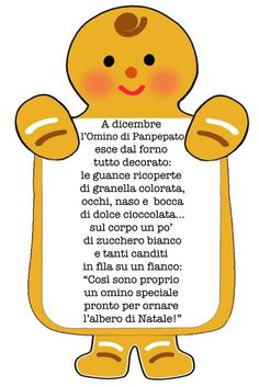 Filastrocche Rime Creatività | Patrizianencinidee | Fiabastrocca Projects For Kids, Crafts For Kids, Merry Christmas, Xmas, Learning Italian, Gingerbread Man, Nursery Rhymes, Kids Playing, Winnie The Pooh