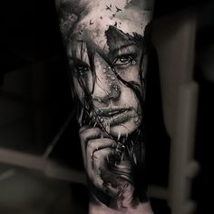 dazzling double exposure tattoo tattoo artist Thomas Carli Jarlier Ÿ diy tattoo - diy Girl Face Tattoo, Face Tattoos, Best Sleeve Tattoos, Body Art Tattoos, Realistic Tattoo Sleeve, Realistic Elephant Tattoo, Hindu Tattoos, Diy Tattoo, Tattoo Line