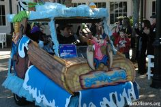 Celebrate Mardi Gras at Port Orleans and see the cast member golf cart parade.