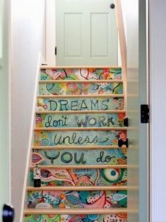 22 Great Stairs Decorating Ideas...when I get a house with stairs again, this is happening!!
