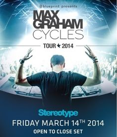 Blueprint Events presents MAX GRAHAM Electronic Music, Graham, Dj, Presents, Tours, Movie Posters, Gifts, Film Poster, Favors