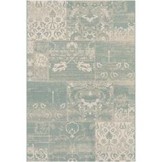 Like Pattern Not right material Couristan Afuera Country Cottage Rug, Sea Mist/Ivory - Walmart.com
