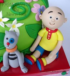 my babysister would love this a little bit on the creepy side though no afence 3rd Birthday, Birthday Parties, Happy Birthday, Caillou Cake, Fondant, Cupcakes, Baby Sister, Cake Designs, Party Themes