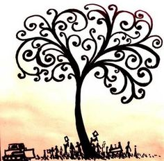 "I want to use only the tree for the tattoo, with the words ""spread the love"" underneath as the roots"