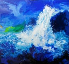 This is oil-falls38 / Oil on canvas, 2013 / 120 x 130 cm (47.2 x 51.2 inch)