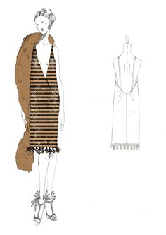 the great gatsby costume illustrations - Google Search