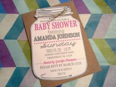 Mason jar country style baby shower invitation baby que mason jar country style baby shower invitation baby que printable shower invitations jar and babies filmwisefo