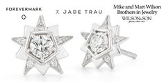 #ForevermarkFriday #Diamond Star Studs from Jade Trau to match the twinkle in her eye. Free shipping on orders over $300: http://qoo.ly/8n7r3/0