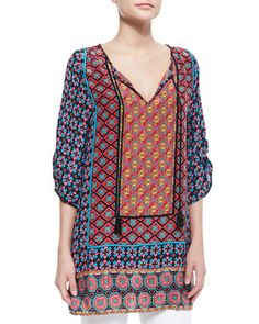 Courtney Silk Long Tunic, Women\'s by Tolani at Neiman Marcus.