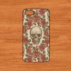 no.109 iphone 5c or iphone 5s rubber or  hard case-skull