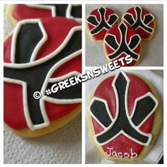 Power Ranger Cookies...any color...Greeks N Sweets. $26.00, via Etsy.