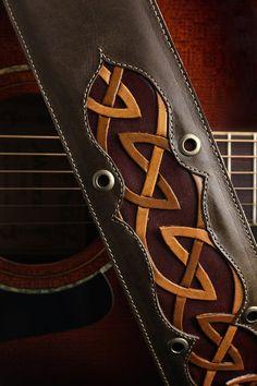 Guitar Strap, brown leather guitar strap: Regal Dara Guitar Strap #guitarstrap