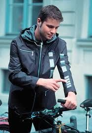 wearable technology - Google Search - reading library materials on your jacket?