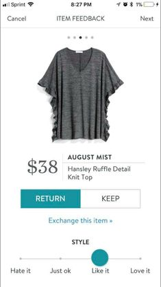 Obsessed with this top!!! I love Stitch Fix! Please use my link to begin! https://www.stitchfix.com/referral/7950720?som=c&sod=i