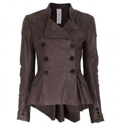 High Comrade Leather Jacket Adult Womens Air Brown Coat Clothing