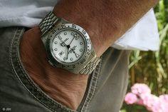 Rolex Explorer II (16570) with white dial an Jubilée bracelet.