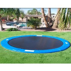 in ground trampoline.  This is the only way I would want a trampoline in my yard!
