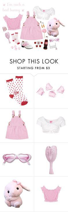 """""""little bunny nymphet"""" by corpsebabydoll ❤ liked on Polyvore featuring Forever 21, H&M, Dotty Dungarees, Krüger Dirndl and Zales"""