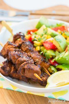 Photo Brochettes de Bœuf à la sauce Barbecue et au Paprika Fumé
