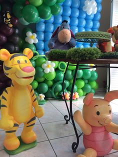 Winnie  the Pooh Birthday Party decorations!  See more party ideas at CatchMyParty.com!