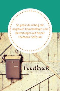So gehst du richtig mit negativen Kommentaren und Bewertungen auf deiner Facebook-Seite um  #Facebook #FacebookMarketing #SocialMedia