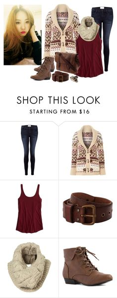 """""""Triad"""" by raresnow ❤ liked on Polyvore featuring Frame Denim, Izabel London, American Eagle Outfitters, Denim & Supply by Ralph Lauren, FOSSIL and Ann Demeulemeester"""