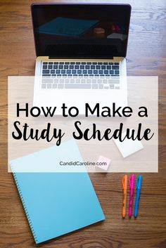 During busy weeks, I'll create a study schedule to keep myself on track and devote enough time to each class. Learn how to make one in this post!