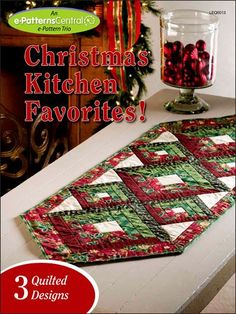 Dress up your holiday table with one of three patterns designed especially for this heartwarming season. Whether hosting a Christmas tea or a family dinner, add a special touch with this collection of holiday designs. Each pattern also makes a great gift! Patterns are included for Christmas Log Runner, Country Christmas With Jelly Rolls and Wreath Quartet Topper.
