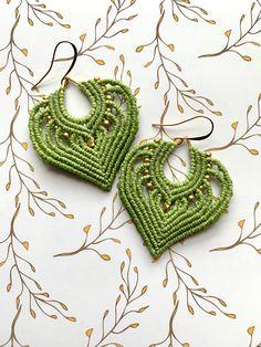 Macrame Earrings, Macrame Jewelry, Crochet Earrings, Artisan Jewelry, Handmade Jewelry, Handmade Gifts, Micro Macrame, Etsy Crafts, Kids Gifts