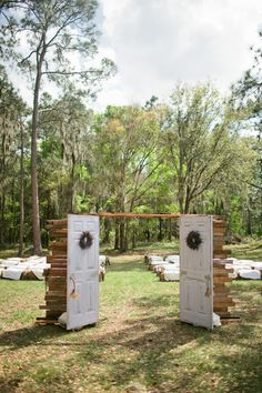 doors to an outdoor ceremony #wedding