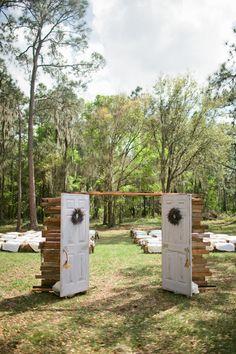doors to an outdoor ceremony #wedding