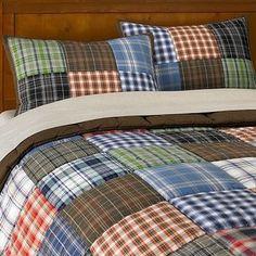 Patch Plaid Quilt & Sham contemporary kids bedding