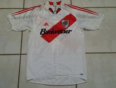 66fa76a6b79ec Rare Vintage ADIDAS River Plate Argentina Soccer 2004 Jersey Men s Small   adidas  RiverPlate