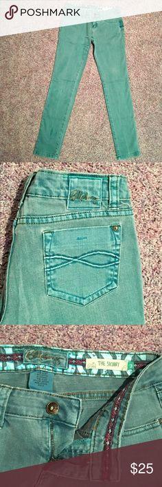 Billabong Women's Skinny Jeans Cute teal skinny jeans Billabong Jeans Skinny